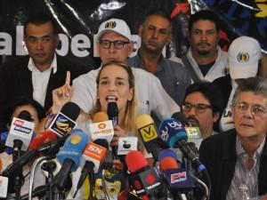 Lilian Tintori y Unidad se restean frente atentados oficialistas y <br> aseguran triunfo del cambio el 6D