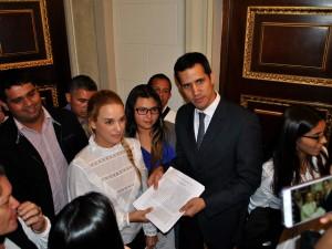 Lilian Tintori asistió a la presentación del Proyecto de Ley de Amnistía <br> en la Asamblea Nacional