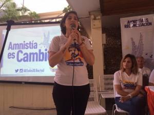Patricia de Ceballos: Exigiremos la libertad de todos los presos políticos <br> y seguiremos trabajando y elevando el mensaje del cambio
