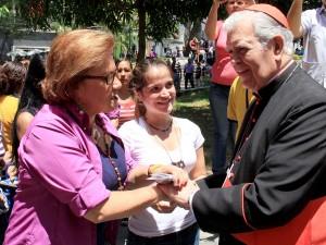 Helen Fernández: Pidió por reconciliación del mundo, de Venezuela y por <br> libertad del Alcalde Ledezma y demás presos