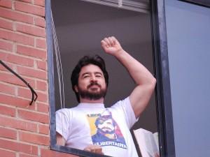 Daniel Ceballos: Libertad para Leopoldo López, libertad para los presos <br> políticos, libertad para toda Venezuela, ¡cambio ya!