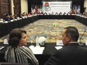 Mitzy Capriles de Ledezma: Caso de Alcalde Ledezma debatió Internacional <br> Socialista