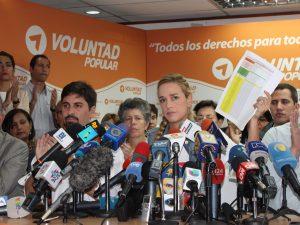 Lilian Tintori exige al régimen de Maduro Fe de Vida de Leopoldo López