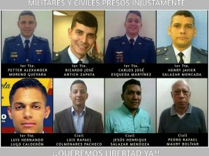 """Gran tuitazo #MilitaresInocentes por los detenidos del <br>""""Golpe Azul"""""""