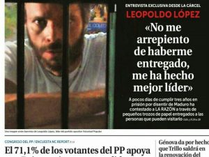 Leopoldo López: «No me arrepiento de haberme entregado, me ha hecho <br>mejor líder»