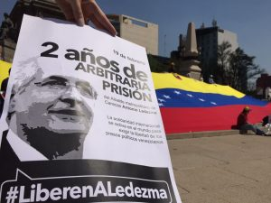 Venezolanos en México exigieron libertad de Ledezma